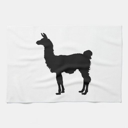 Toalla de cocina de la silueta de la llama zazzle for Llama en la cocina