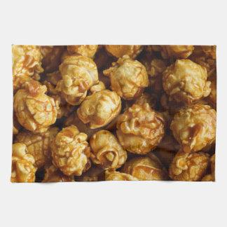 Toalla de cocina de las palomitas del caramelo