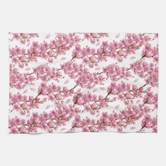 Toalla de cocina de las ramas de la flor de Sakura