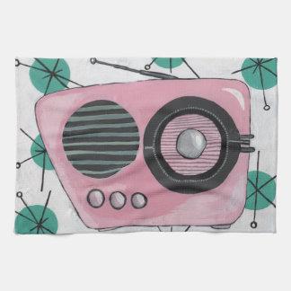 Toalla de cocina de radio retra