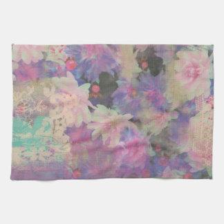 toalla de cocina elegante del estampado de flores
