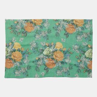 toalla de cocina floral de las flores elegantes