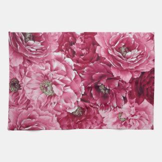 Toalla de cocina floral de los racimos rosados