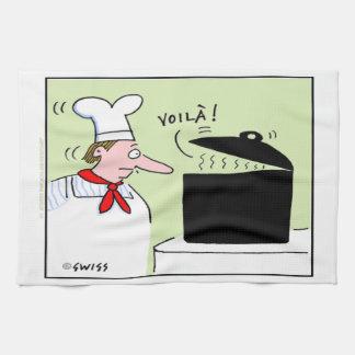 Toalla de cocina gastrónoma del dibujo animado del