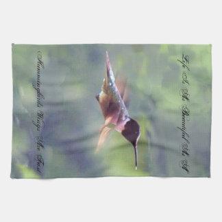 Toalla de cocina hermosa del colibrí