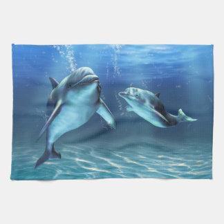 Toalla de cocina ideal del delfín