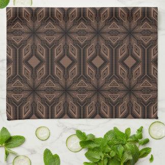 Toalla de cocina marrón del mosaico