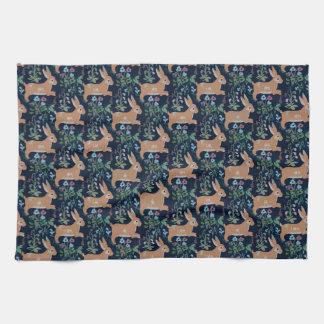 Toalla de cocina medieval de la tapicería del