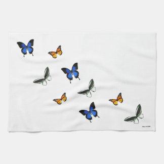 Toalla de cocina modelada mariposa