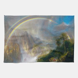 Toalla de cocina tropical de la pintura del arco i