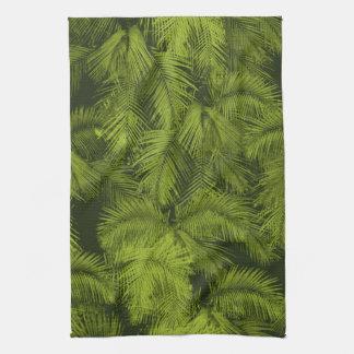 Toalla de cocina tropical hawaiana de las palmas