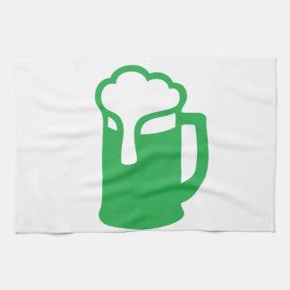 Toalla de cocina verde de la cerveza