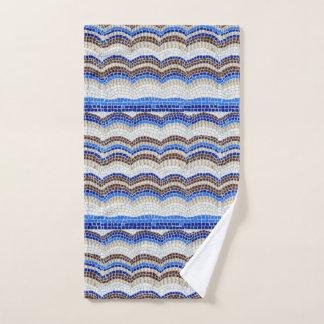 Toalla de mano azul del mosaico