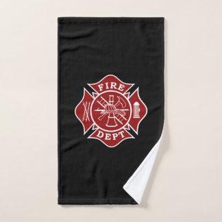 Toalla de mano de la cruz maltesa del bombero
