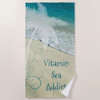 Toalla De Playa Adicto al mar de la vitamina