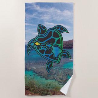 Toalla De Playa Bahía de Hanauma de la tortuga de las islas de
