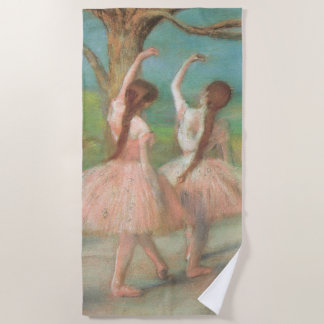 Toalla De Playa Bailarines en el rosa de Edgar Degas, arte del