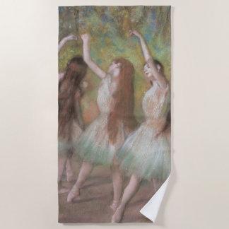 Toalla De Playa Bailarines verdes de Edgar Degas, arte del ballet