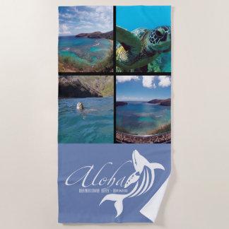 Toalla De Playa Ballena de la hawaiana de la bahía de Hanauma de