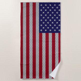 Toalla De Playa Bandera de los E.E.U.U. en la decoración del