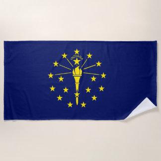 Toalla De Playa Bandera del estado de Indiana
