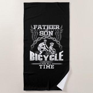Toalla De Playa Bicicleta del hijo del padre