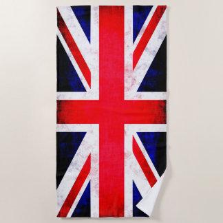 Toalla de playa británica de la bandera de Reino
