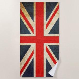 Toalla de playa británica de la bandera de Union
