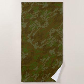 Toalla De Playa Brown y modelo del camuflaje del verde