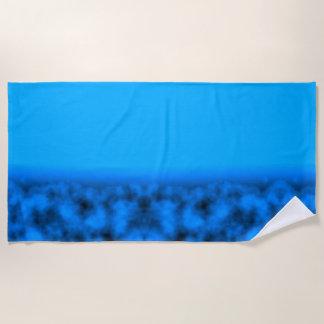 Toalla De Playa Cielo nocturno azul de neón con negro