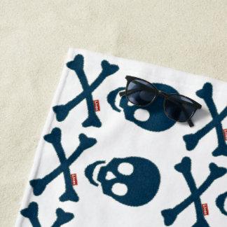 Toalla De Playa Cráneo del dril de algodón