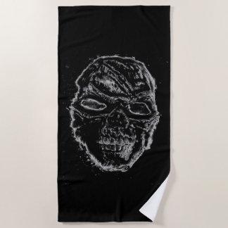 Toalla De Playa Cráneo negro
