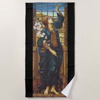 Toalla de playa cristiana cruzada de Burne-Jones