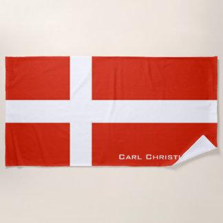 Toalla De Playa Dannebrog; La bandera oficial de Dinamarca