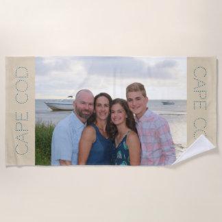 Toalla de playa de encargo de la foto - regalo