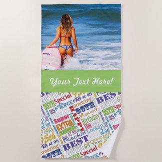 Toalla De Playa De la fiesta regalos únicos y 95.os de cumpleaños