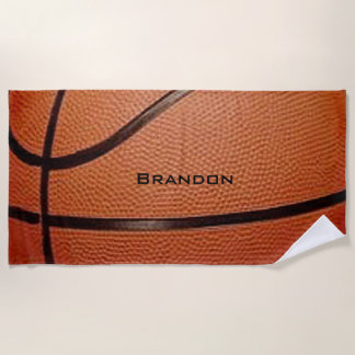Toalla de playa del diseño del baloncesto