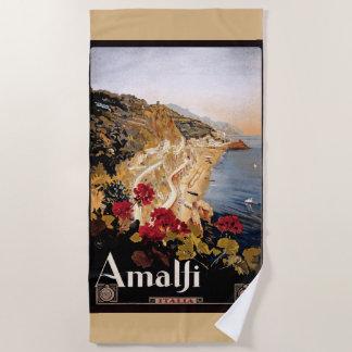 Toalla de playa del poster del viaje de las flores