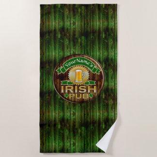 Toalla De Playa Día irlandés del St Patricks de la muestra del Pub
