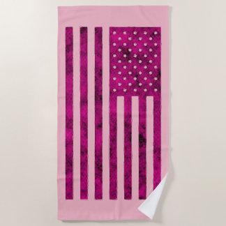 Toalla De Playa Diseño de la bandera de los E.E.U.U. de las barras