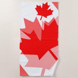 Toalla De Playa Estilo acodado hoja de arce roja canadiense CANADÁ
