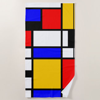 Toalla De Playa Estilo Mondrian