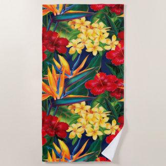 Toalla De Playa Floral hawaiano del paraíso tropical