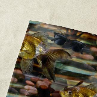 Toalla De Playa Goldfish de lujo de la cola de milano