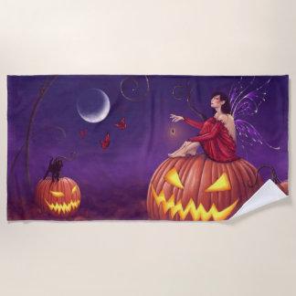 Toalla De Playa Hada de Halloween del duendecillo de la calabaza