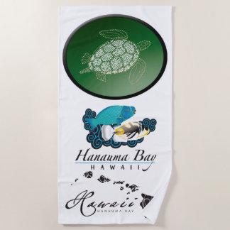 Toalla De Playa Hawaiana de la tortuga de las islas de Hawaii