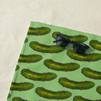 Toalla De Playa Impresión kosher verde crujiente de la comida de