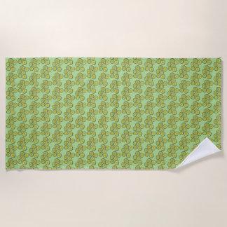 Toalla De Playa Impresión kosher verde crujiente de la comida del