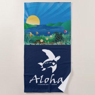 Toalla De Playa Islas de Hawaii de la hawaiana