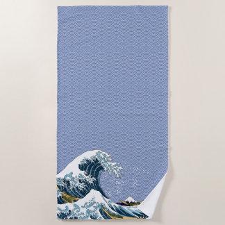 Toalla De Playa La gran onda de Hokusai de Kanagawa